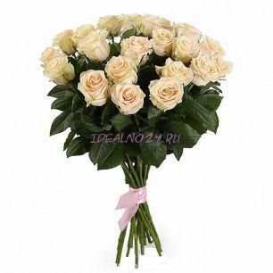 Букет 21 кремовая роза
