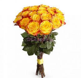 Букет Огненный поцелуй 21 роза