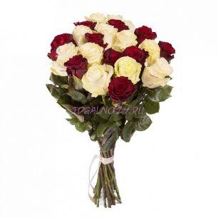 Букет Огонь и лед 21 роза